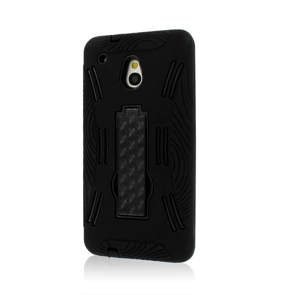 HTC One Mini M4 - Black MPERO IMPACT XL - Kickstand Case Cover
