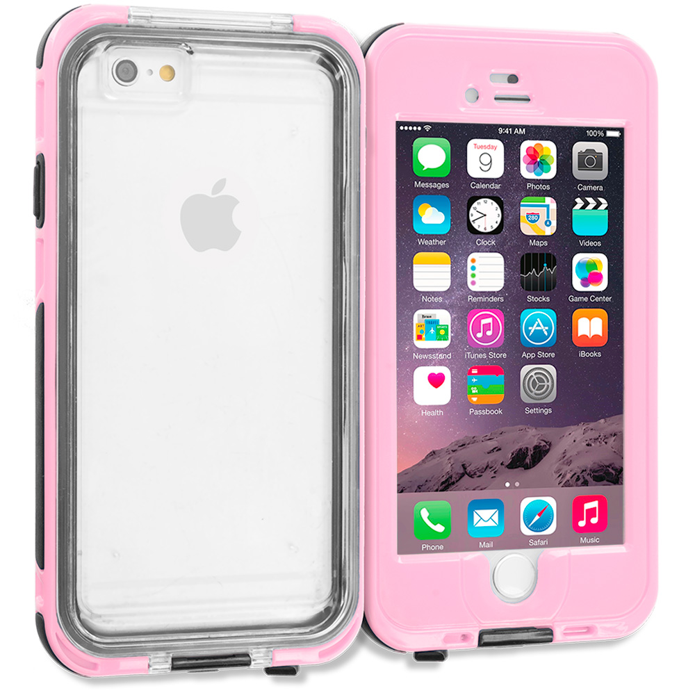 Apple iPhone 6 6S (4.7) Pink Waterproof Shockproof Dirtproof Hard Full Protection Case Cover