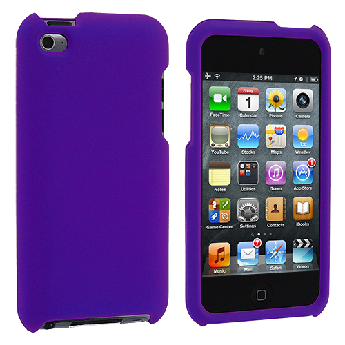 Apple iPod Touch 4th Generation Purple Hard Rubberized Case Cover