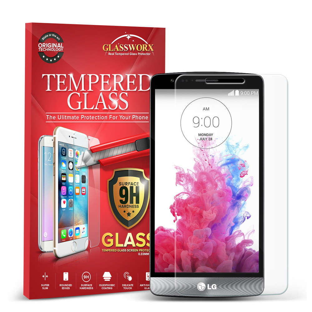LG G3 GlassWorX HD Clear Tempered Glass Screen Protector