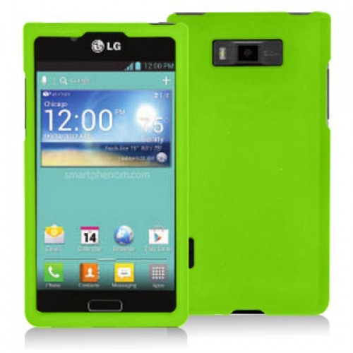 LG Splendor US730 Neon Green Hard Rubberized Case Cover