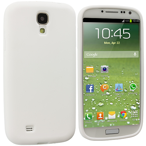 Samsung Galaxy S4 White Silicone Soft Skin Case Cover
