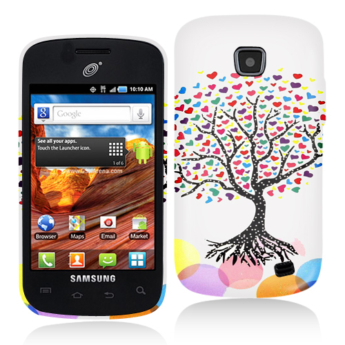 Samsung Proclaim S720C Love Tree on White Hard Rubberized Design Case Cover