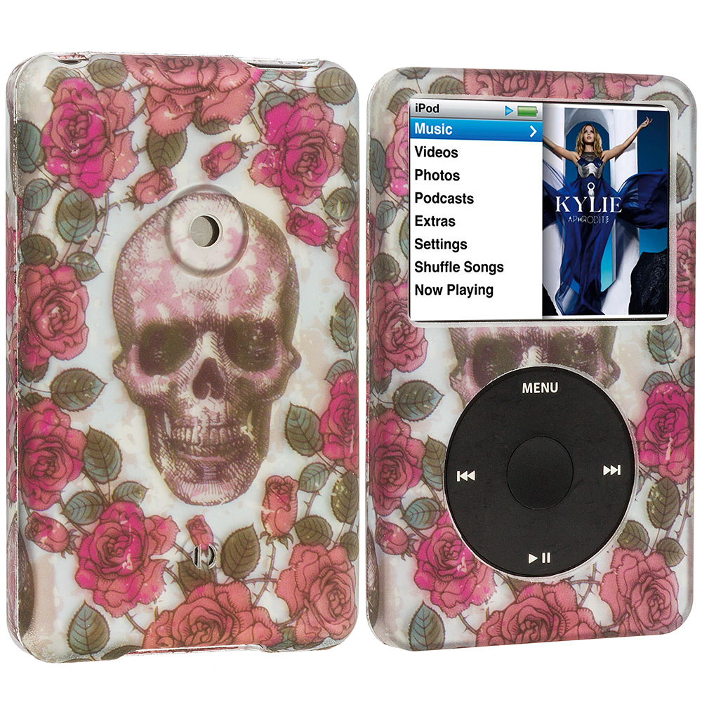 Apple iPod Classic Gorgeous Skull Hard Rubberized Design Case Cover