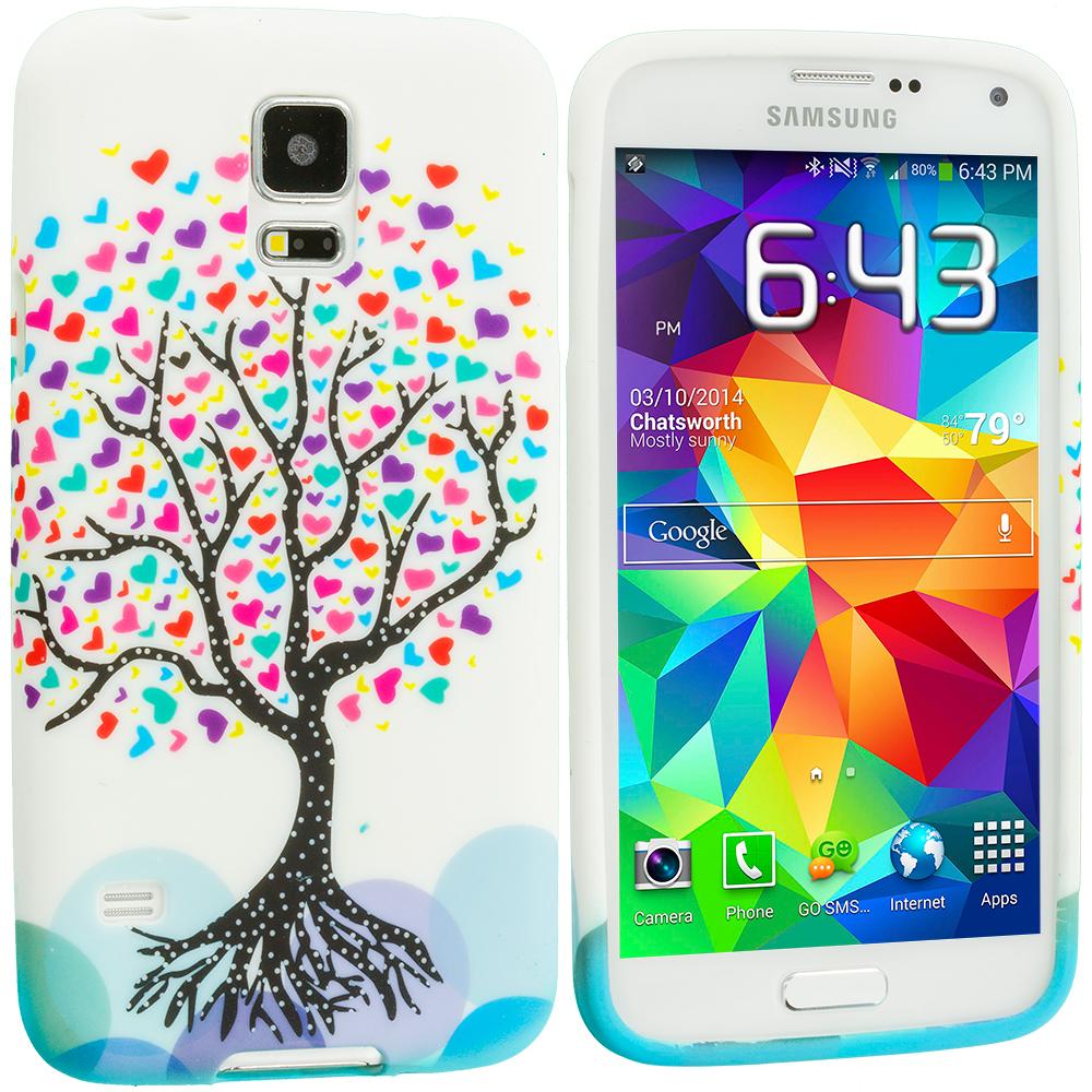 Samsung Galaxy S5 Love Tree TPU Design Soft Case Cover