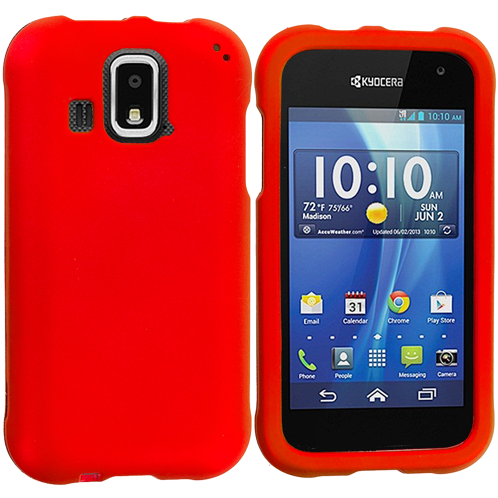 Kyocera Hydro XTRM Orange Hard Rubberized Case Cover