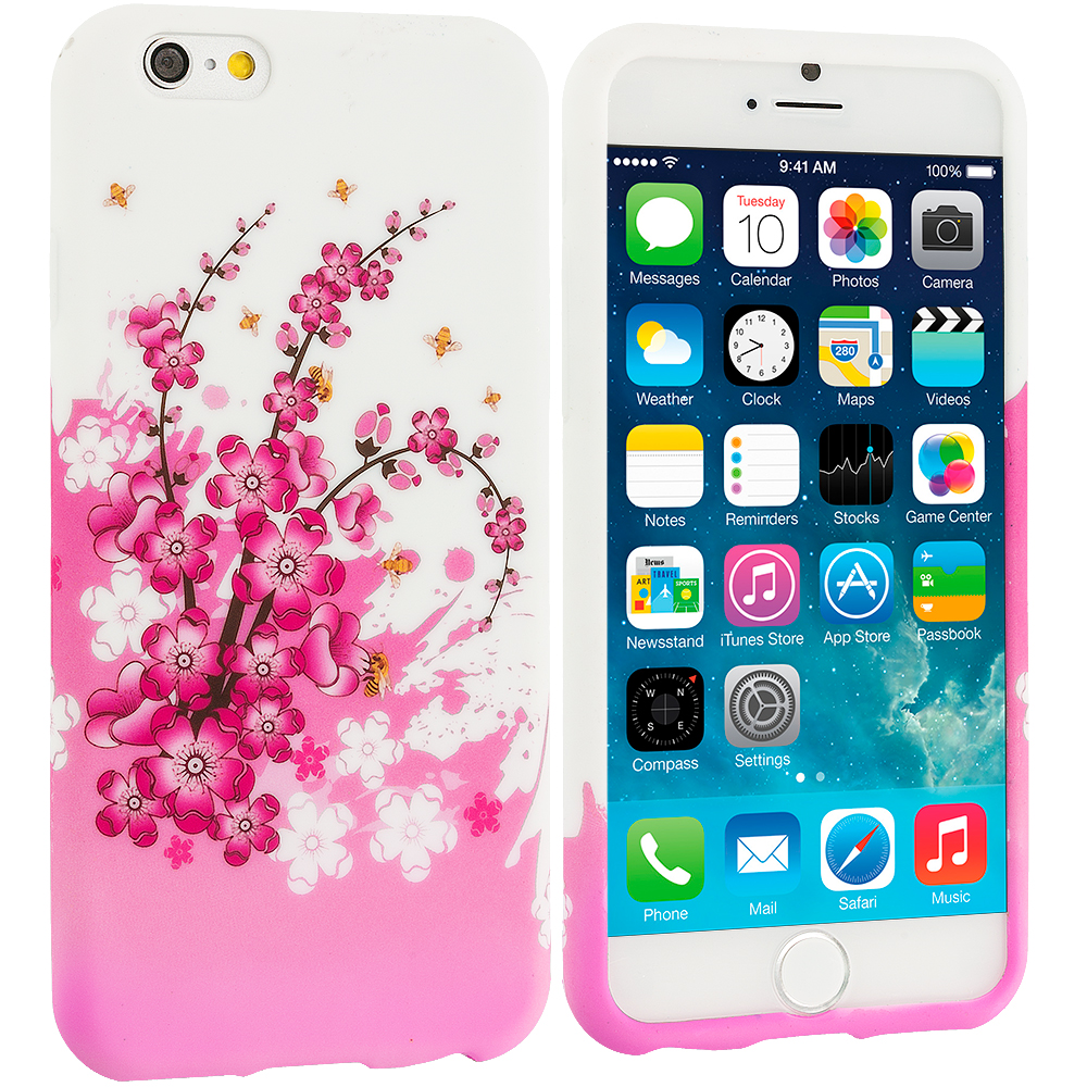Apple iPhone 6 Plus 6S Plus (5.5) Spring Flowers TPU Design Soft Rubber Case Cover