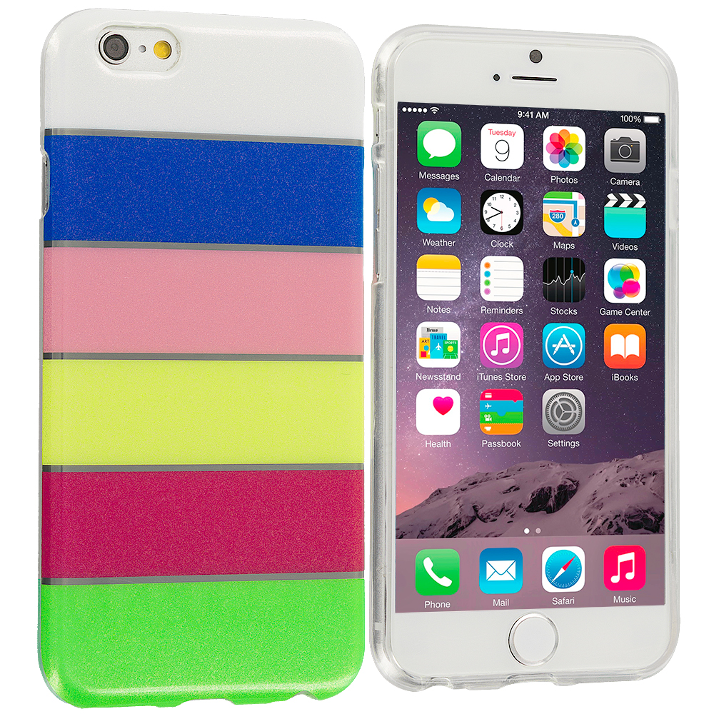 Apple iPhone 6 6S (4.7) Glitter Rainbow TPU Design Soft Rubber Case Cover