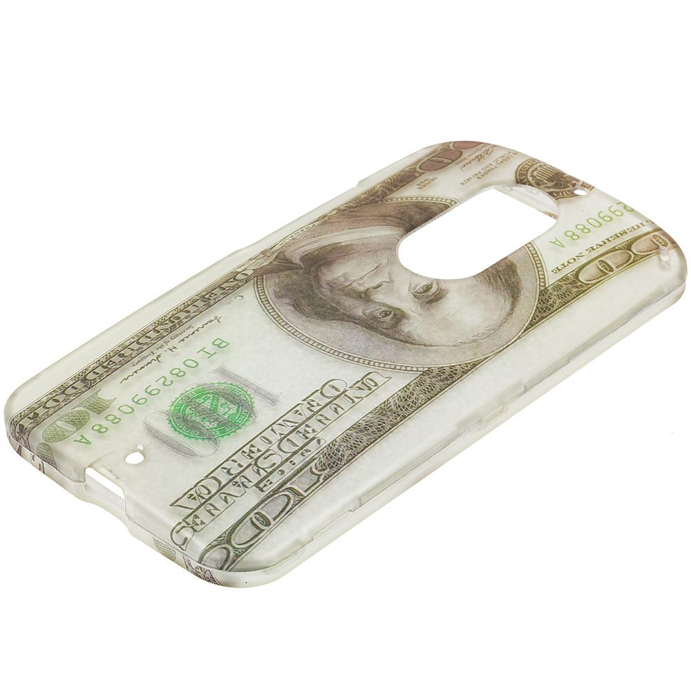 Motorola Moto X 2nd Gen Hundred Dollars 2D Hard Rubberized Design Case Cover