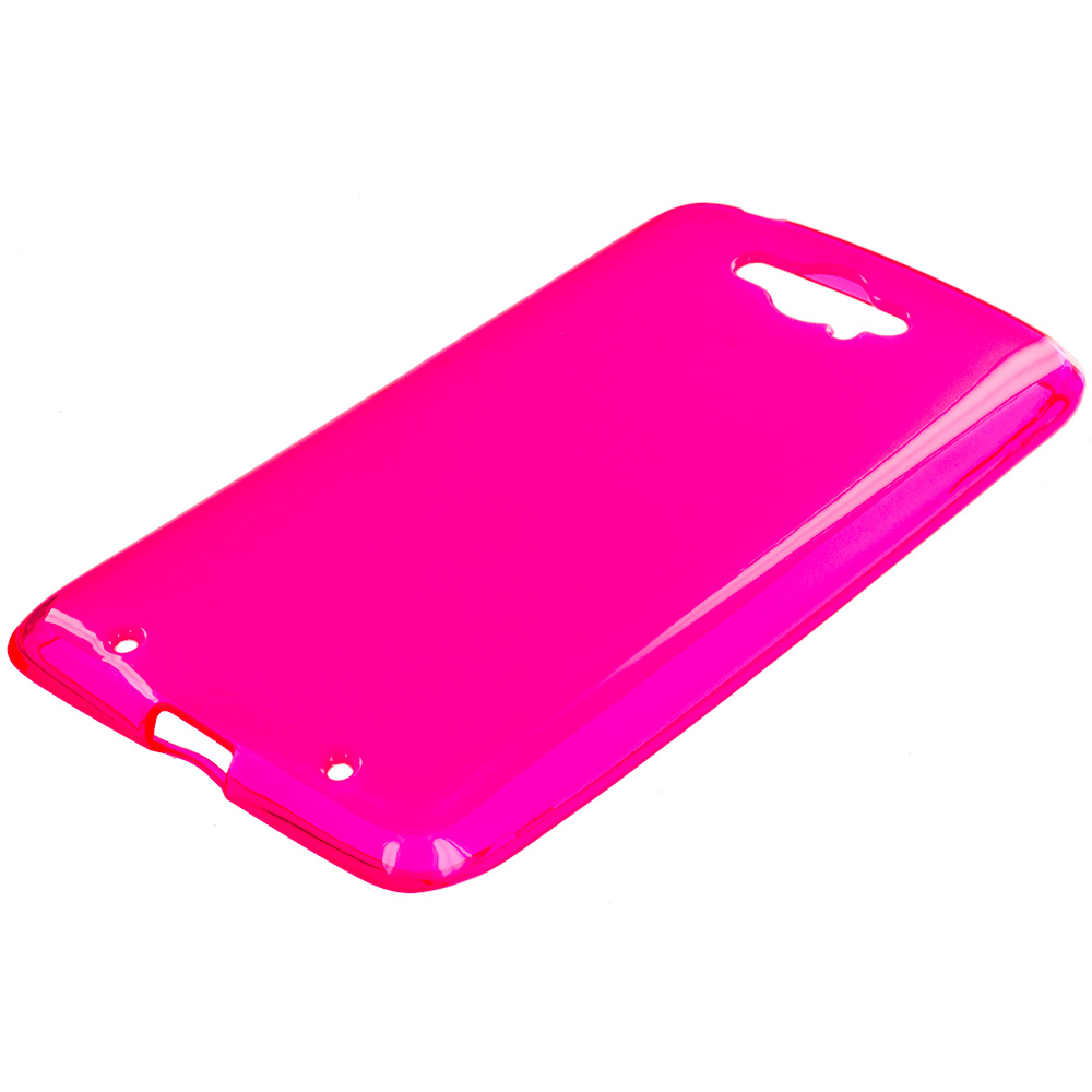 Motorola Droid Turbo Hot Pink TPU Rubber Skin Case Cover