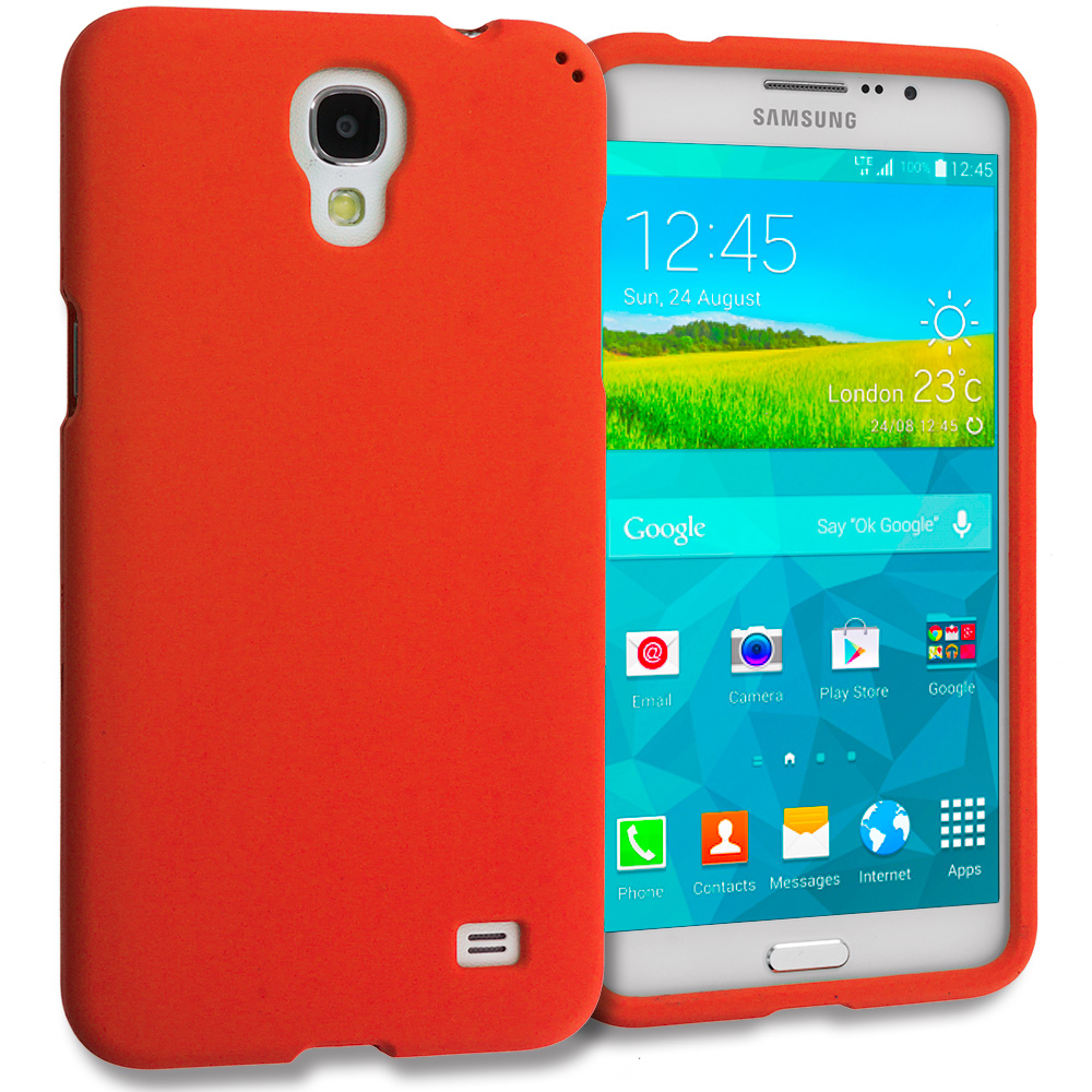 Samsung Galaxy Mega 2 Orange Hard Rubberized Case Cover