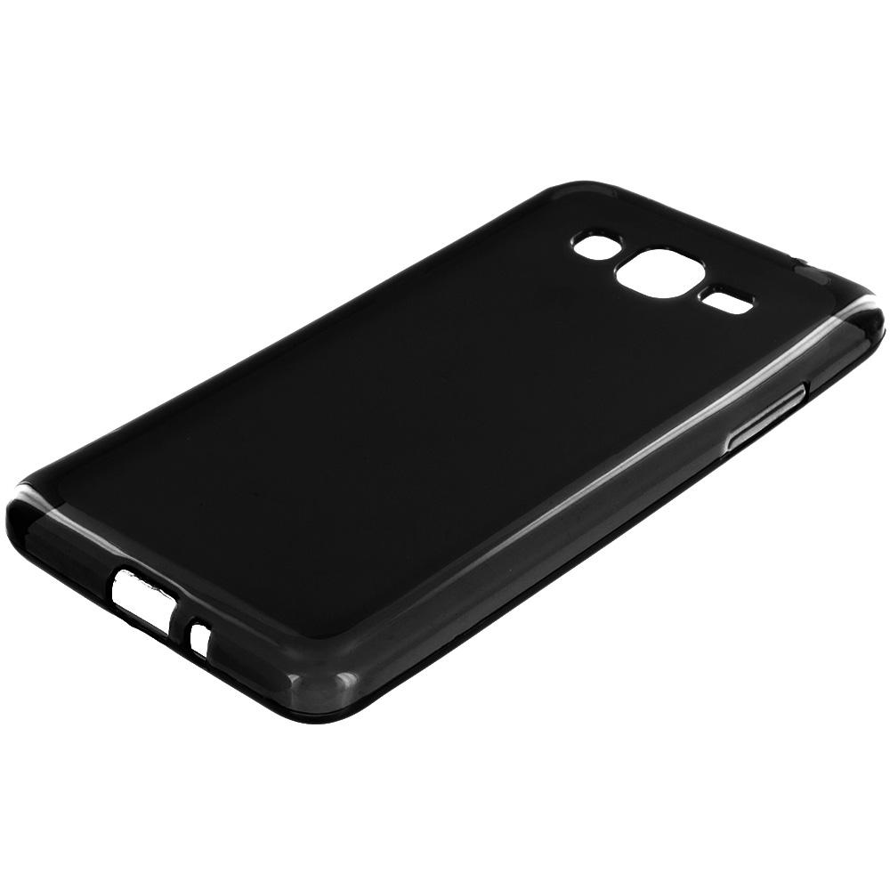 Samsung Galaxy Grand Prime LTE G530 Black TPU Rubber Skin Case Cover