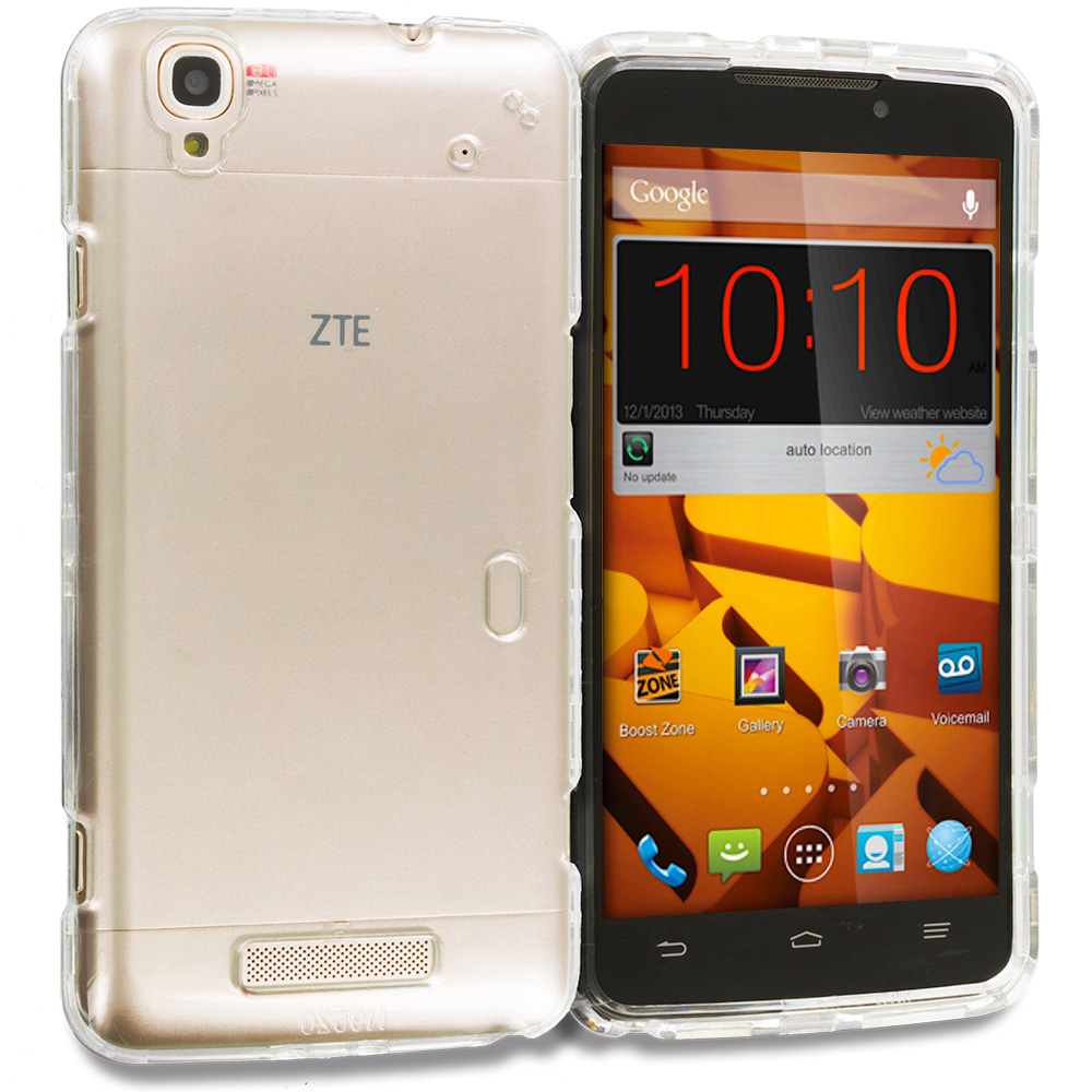 ZTE Boost Max Max Plus + N9521 Clear Crystal Transparent Hard Case Cover