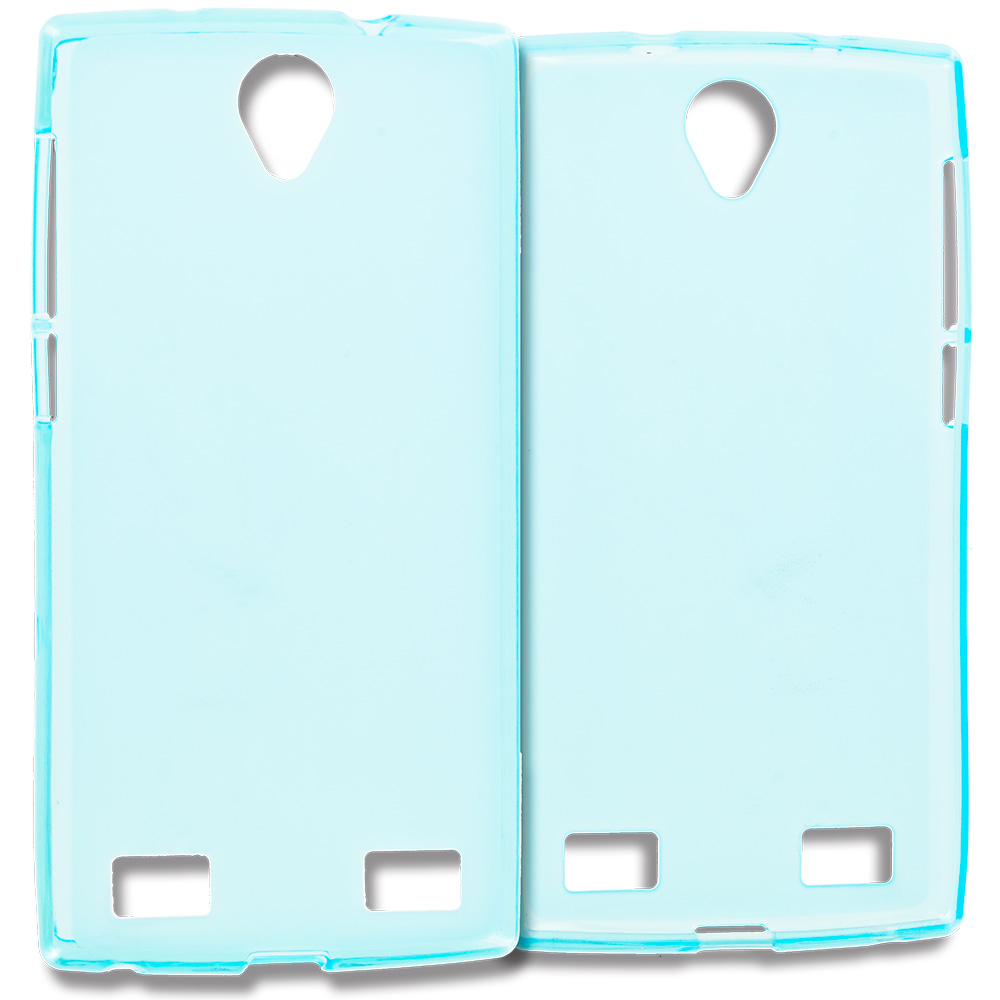 ZTE Zmax 2 Baby Blue TPU Rubber Skin Case Cover