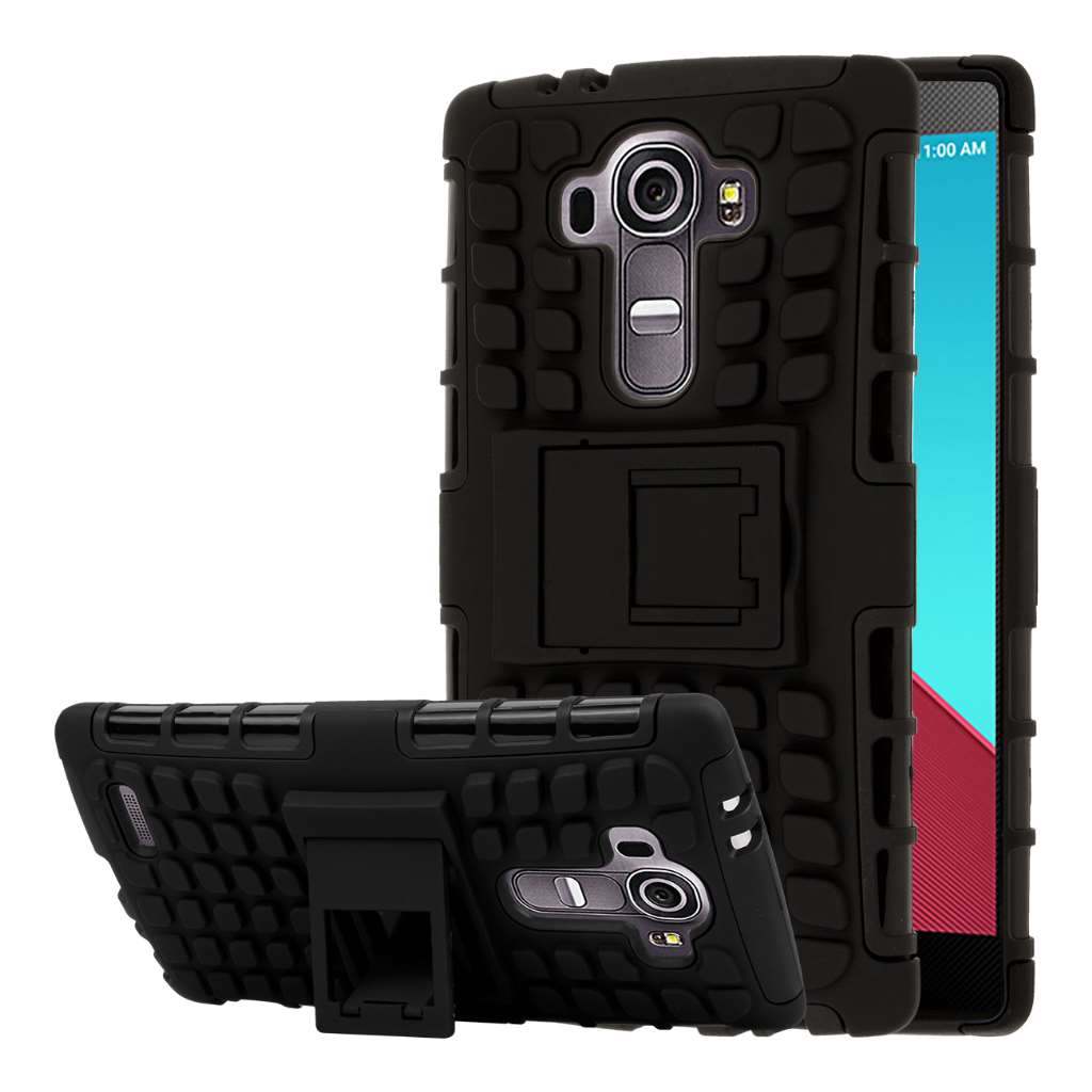 LG G4 - Black MPERO IMPACT SR - Kickstand Case Cover