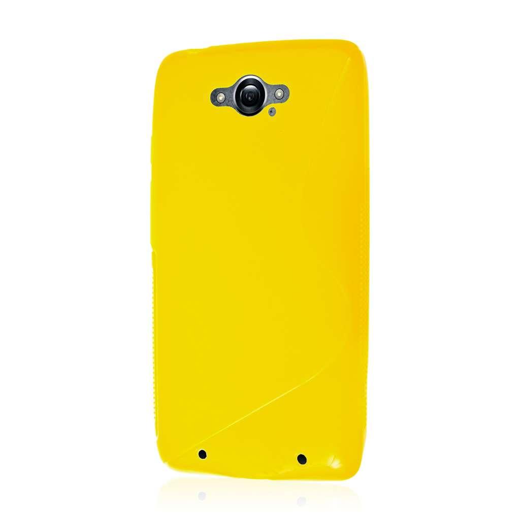 Motorola DROID TURBO - Yellow MPERO FLEX S - Protective Case Cover