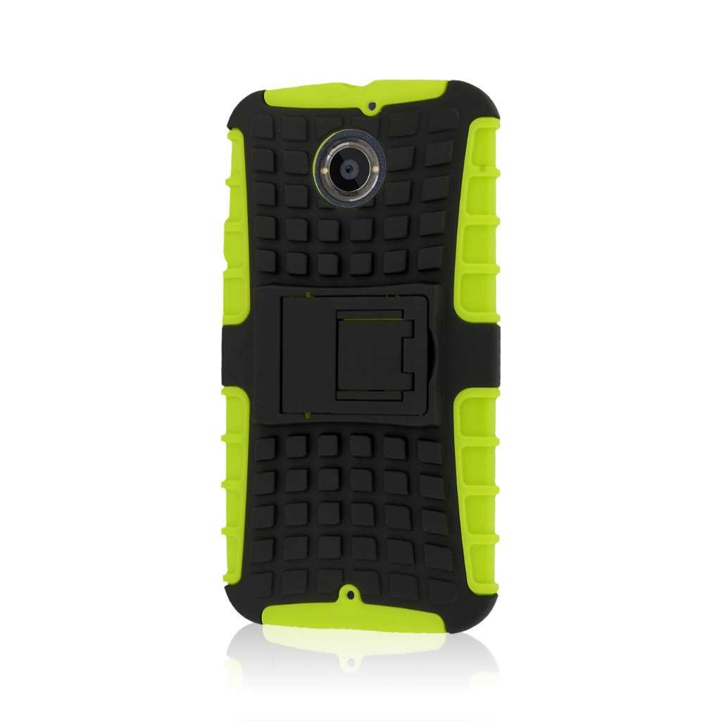 Motorola Moto X 2014 2nd Gen - Neon Green MPERO IMPACT SR - Kickstand Case