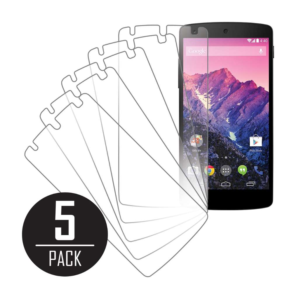 Google Nexus 5 MPERO 5 Pack of Clear Screen Protectors