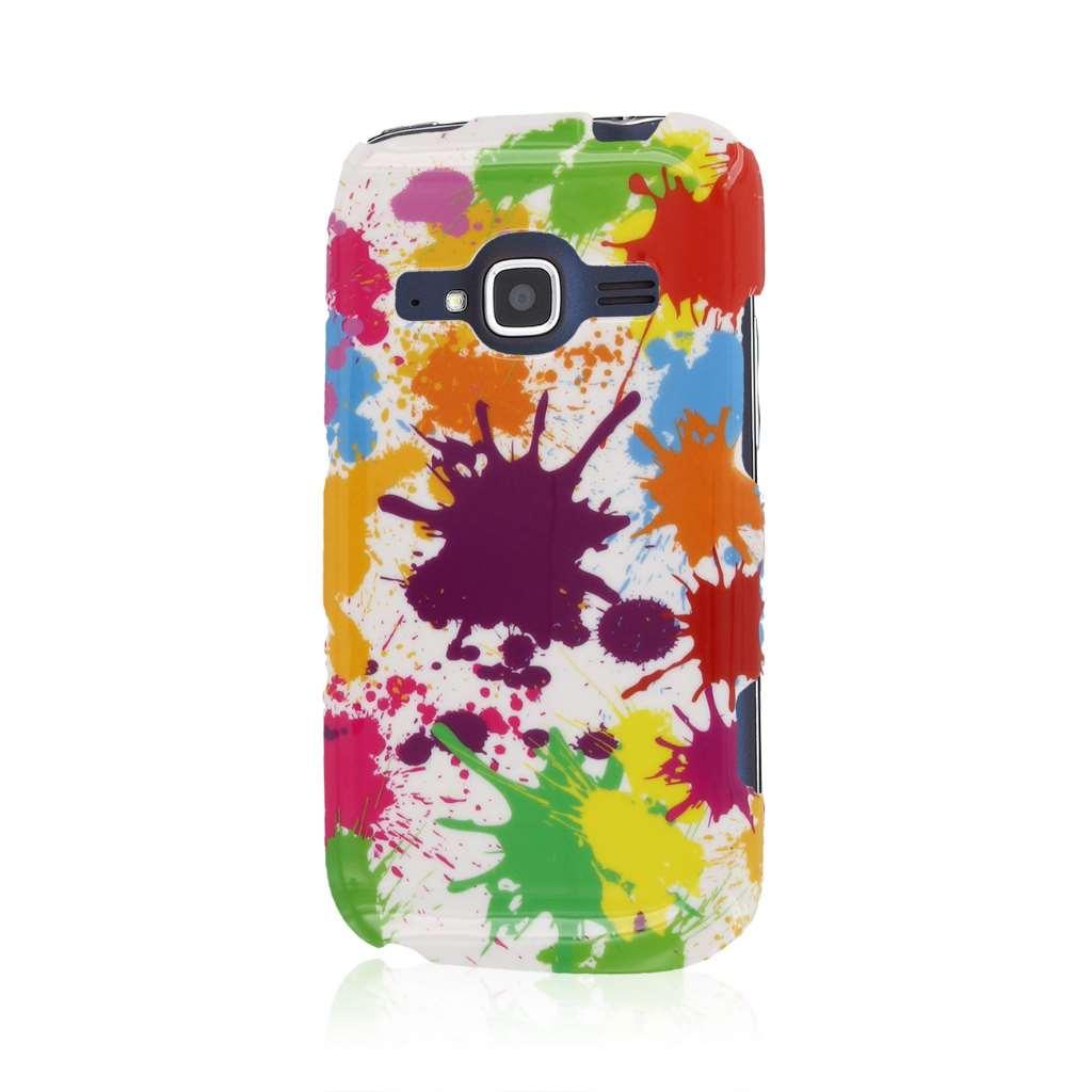 ZTE Concord 2 - White Paint Splatter MPERO SNAPZ - Case Cover