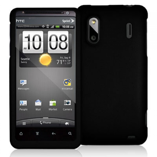 HTC EVO Design 4G Black Hard Rubberized Case Cover