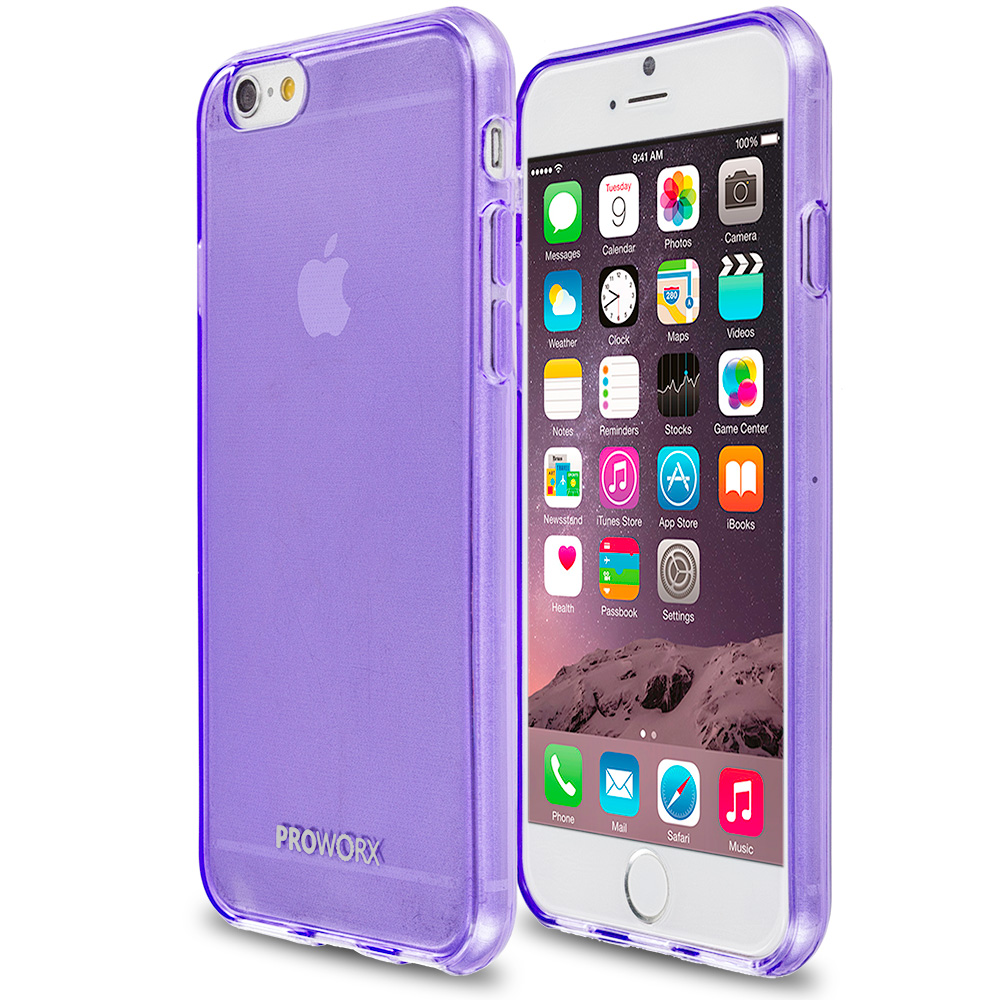 Apple iPhone 6 Plus 6S Plus (5.5) Purple ProWorx Ultra Slim Thin Scratch Resistant TPU Silicone Case Cover