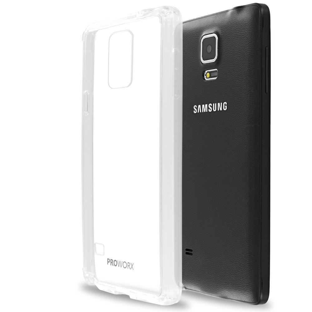 Samsung Galaxy Note 4 Clear ProWorx Shock Absorption Case Bumper TPU & Anti-Scratch Clear Back Cover