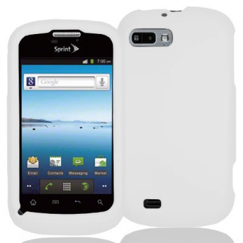 ZTE Fury N850 White Hard Rubberized Case Cover