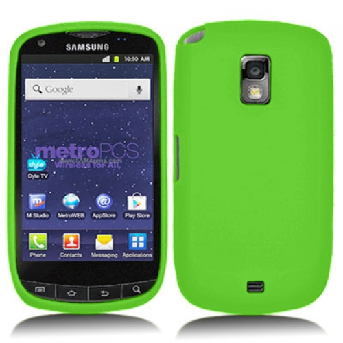 Samsung Galaxy S Lightray 4G R940 Neon Green Silicone Soft Skin Case Cover