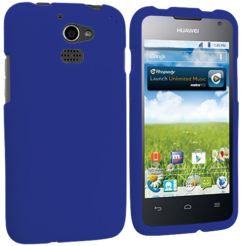 Huawei Premia 4G Blue Hard Rubberized Case Cover