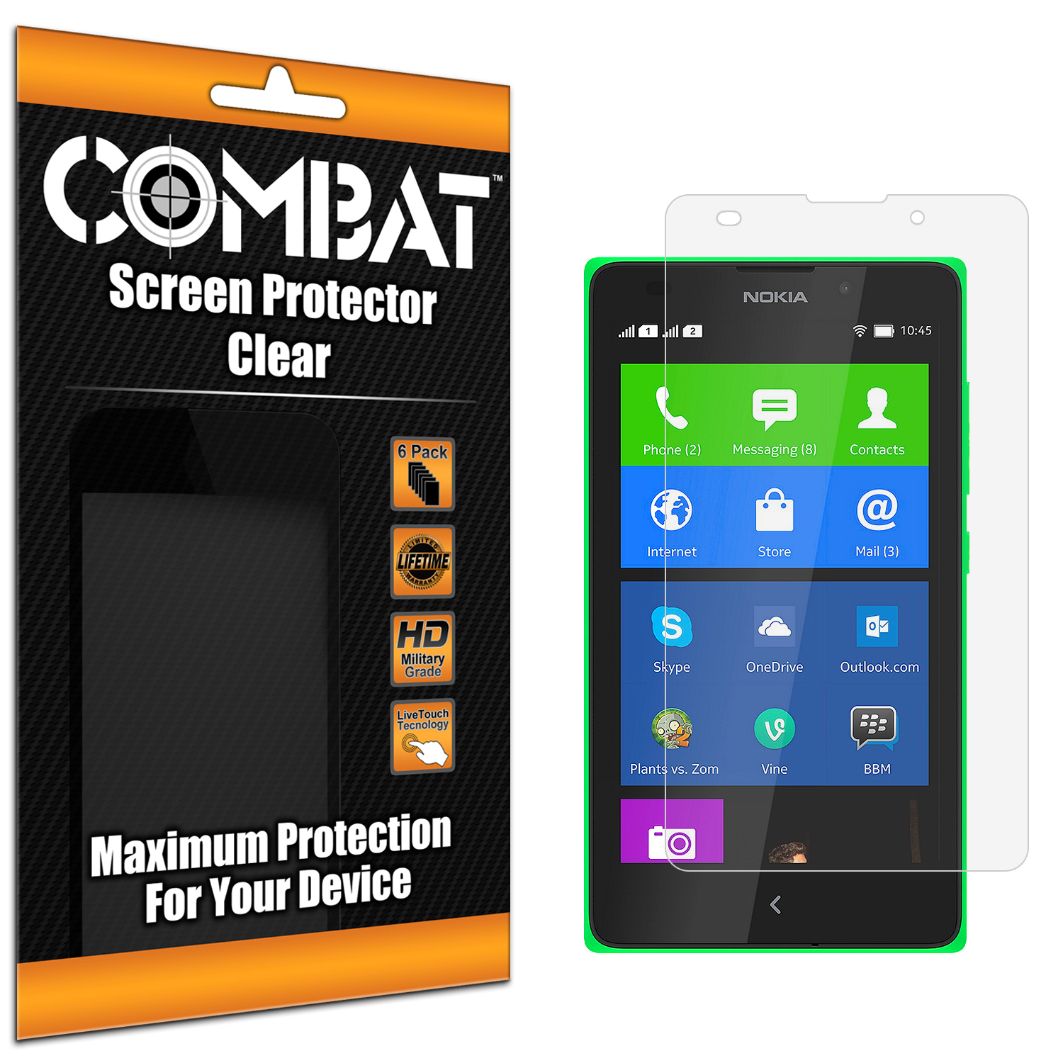Nokia XL Combat 6 Pack HD Clear Screen Protector