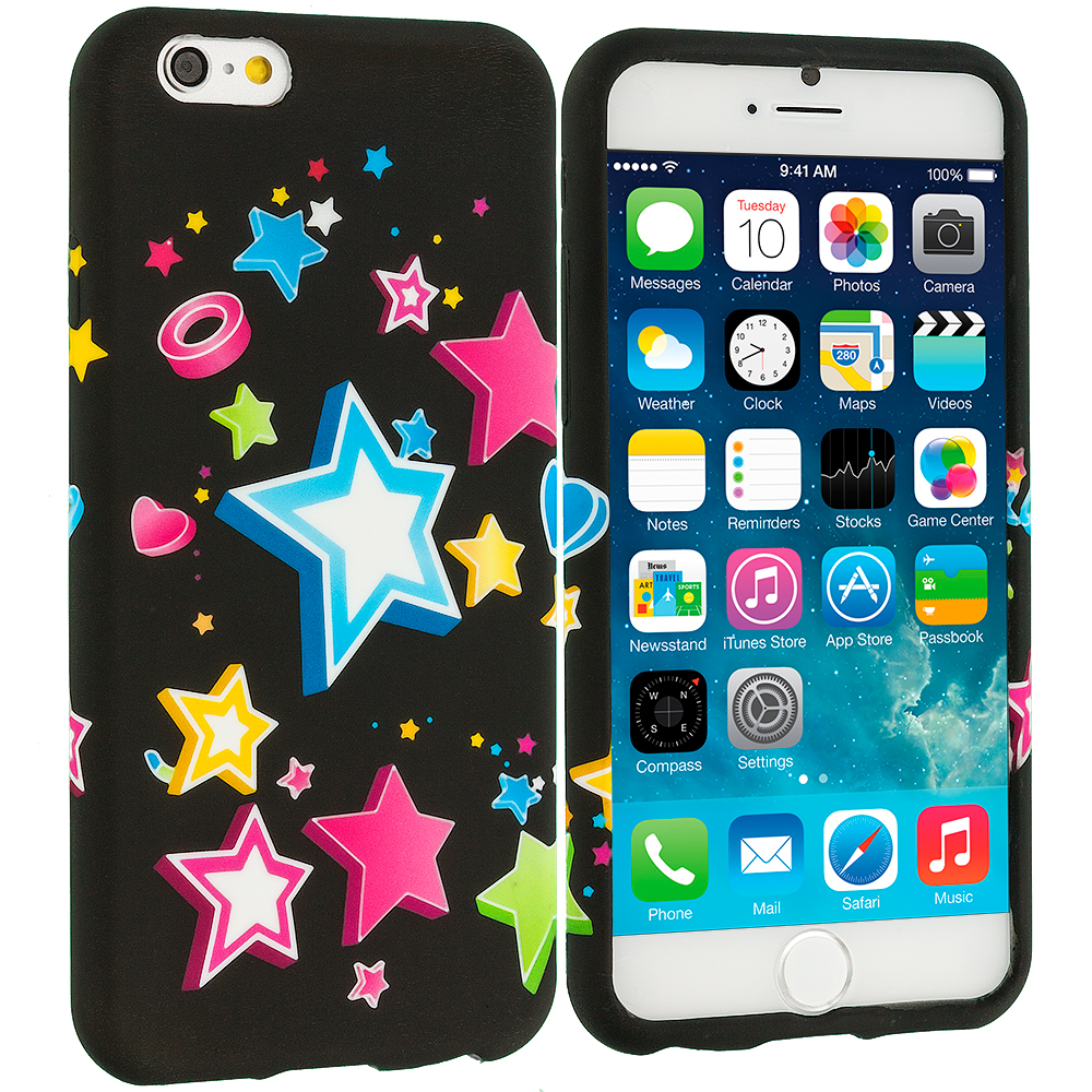 Apple iPhone 6 Plus 6S Plus (5.5) Colorful Shooting Star TPU Design Soft Rubber Case Cover