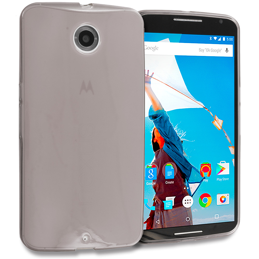 Motorola Google Nexus 6 Smoke TPU Rubber Skin Case Cover