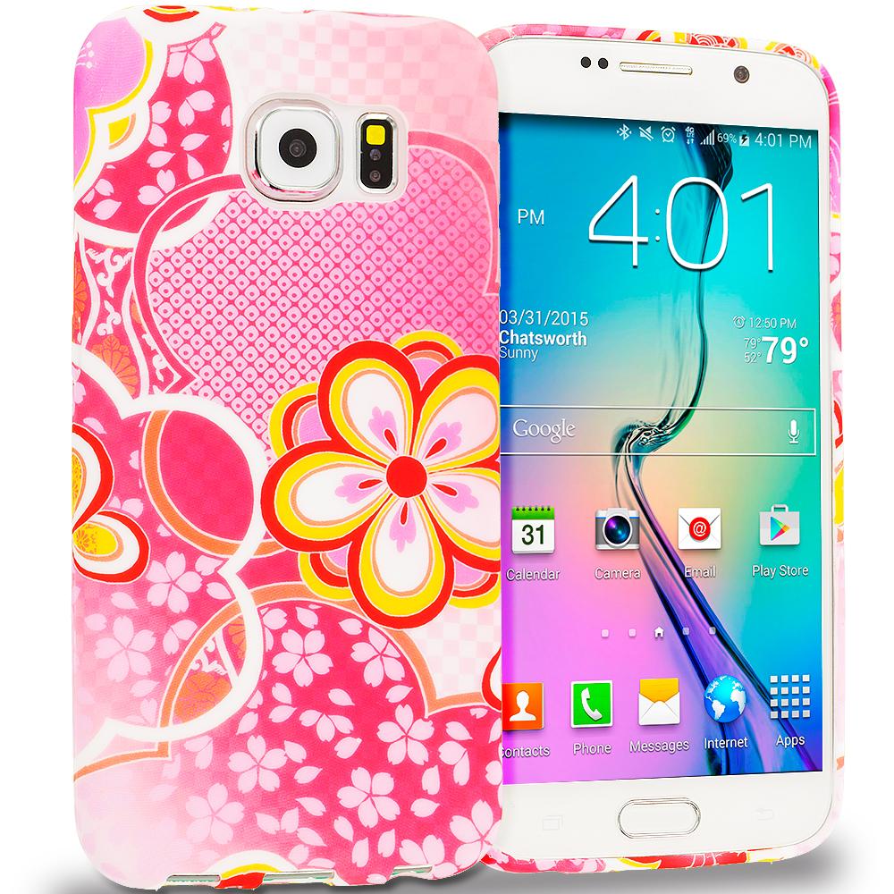 Samsung Galaxy S6 Pink Fairy Tale TPU Design Soft Rubber Case Cover