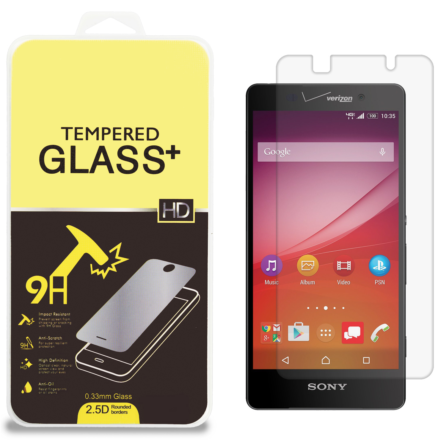 Sony Xperia Z4v Clear Tempered Glass High Quality 0.33mm LCD Screen Protector