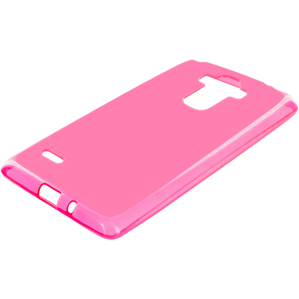 LG G Stylo Hot Pink TPU Rubber Skin Case Cover