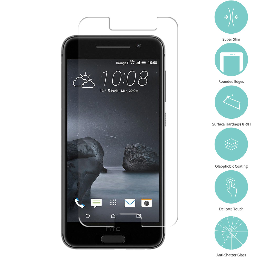 HTC Aero One A9 Clear Tempered Glass Film Screen Protector Clear