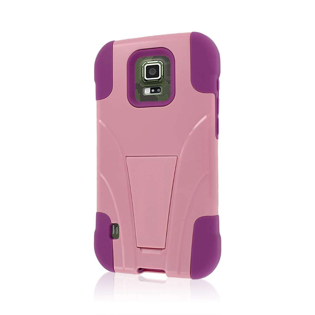 Samsung Galaxy S5 Active - Pink MPERO IMPACT X - Kickstand Case Cover