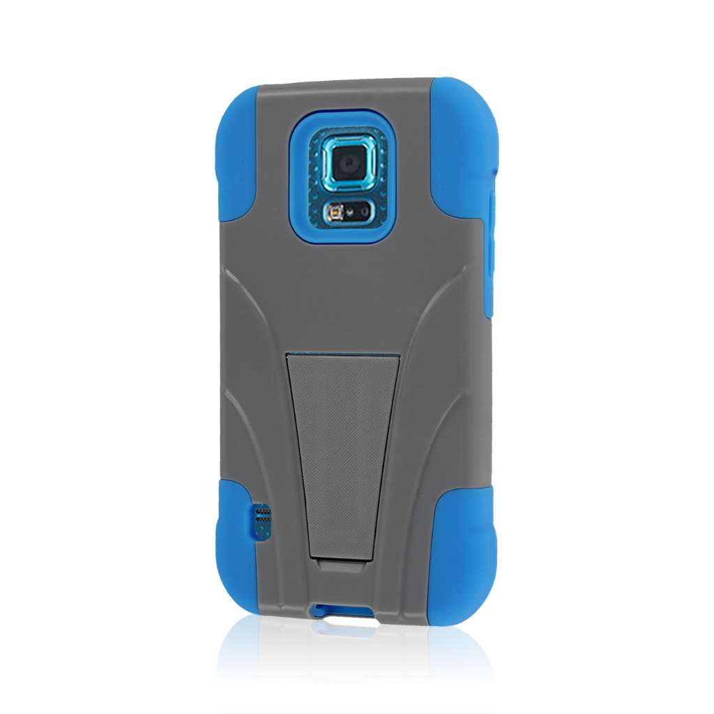 Samsung Galaxy S5 Sport - Blue / Gray MPERO IMPACT X - Kickstand Case Cover