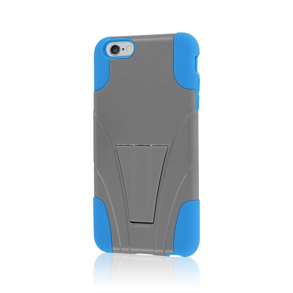 Apple iPhone 6 6S Plus - Blue / Gray MPERO IMPACT X - Kickstand Case Cover