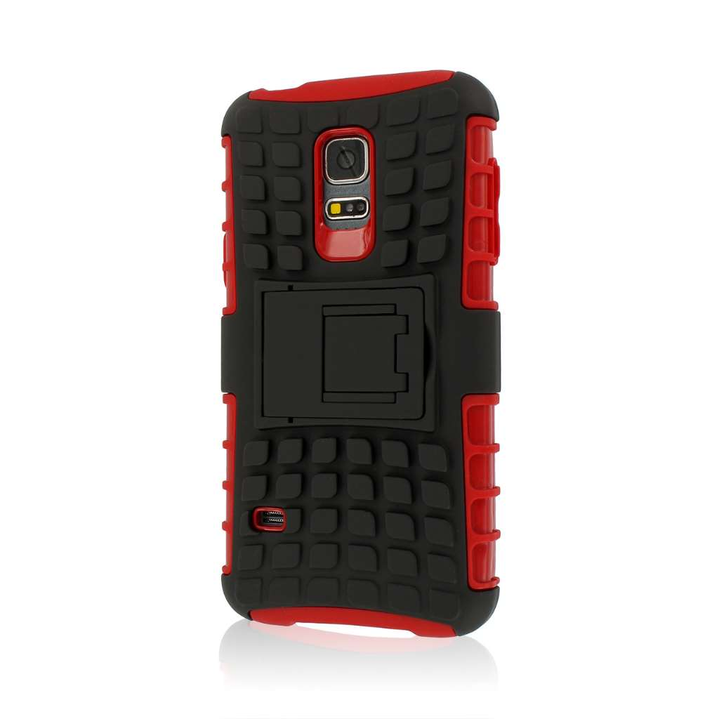 Samsung Galaxy S5 Mini - Red MPERO IMPACT SR - Kickstand Case Cover