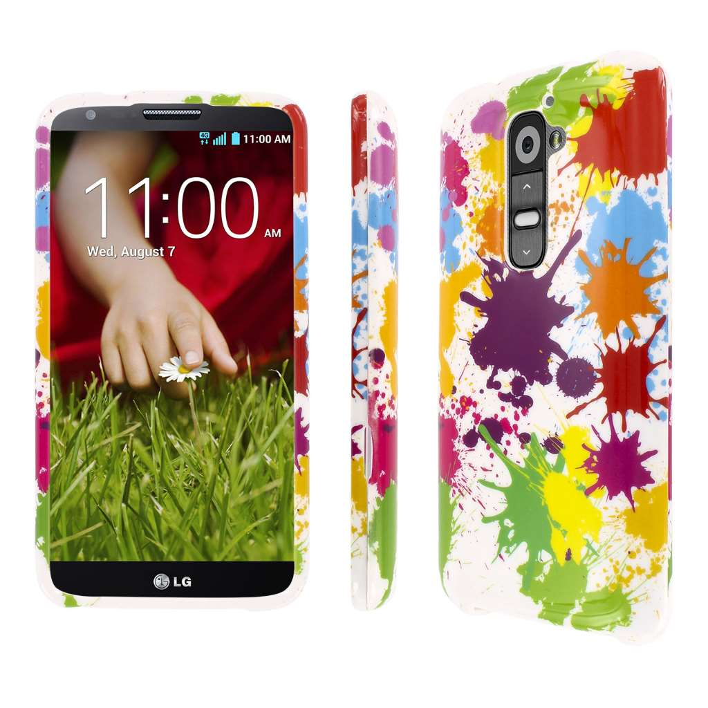LG G2 - White Paint Splatter MPERO SNAPZ - Glossy Case Cover