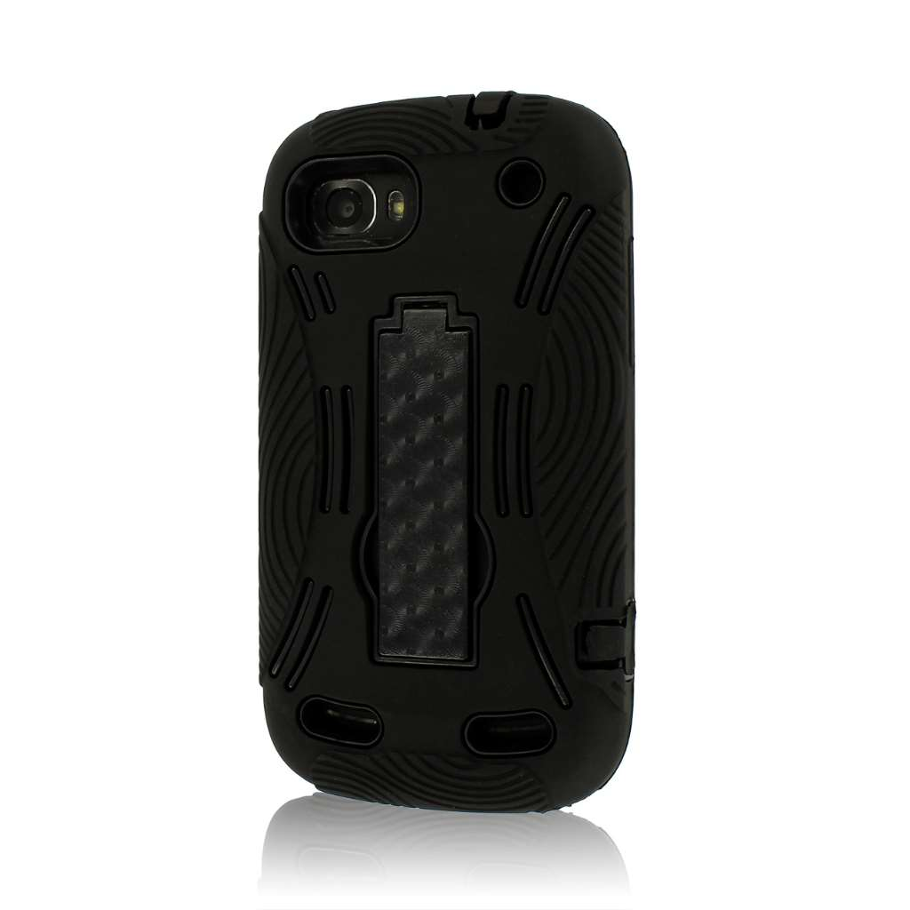 ZTE Warp Sequent N861 - Black MPERO IMPACT XL - Kickstand Case Cover