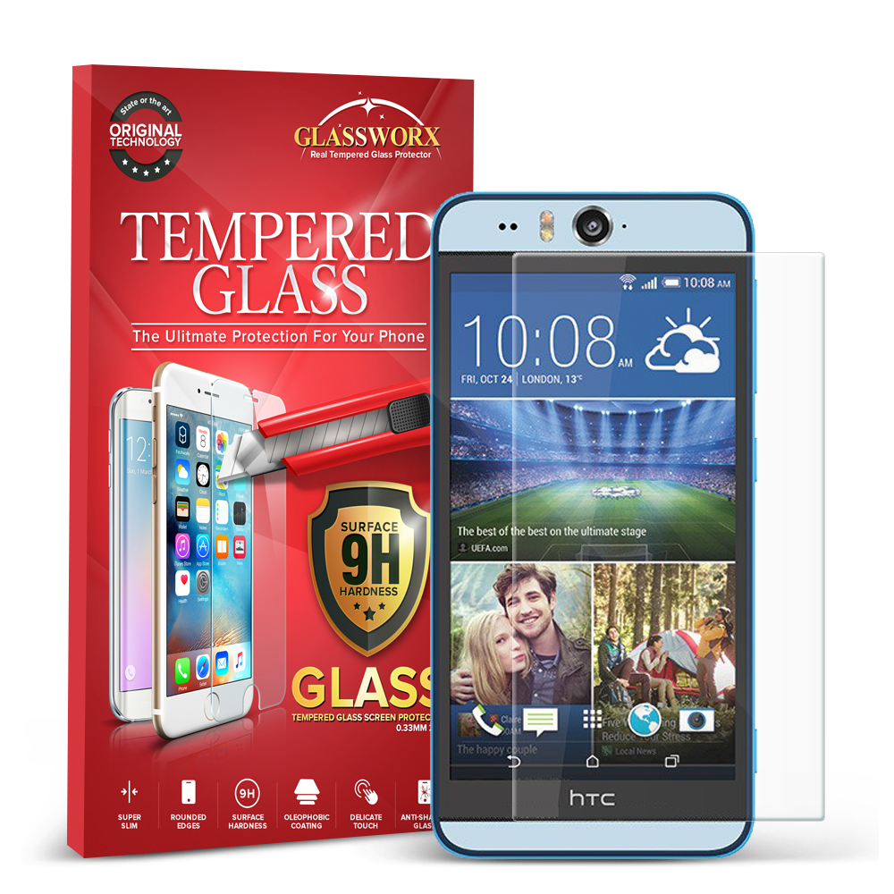 HTC Desire EYE GlassWorX HD Clear Tempered Glass Screen Protector
