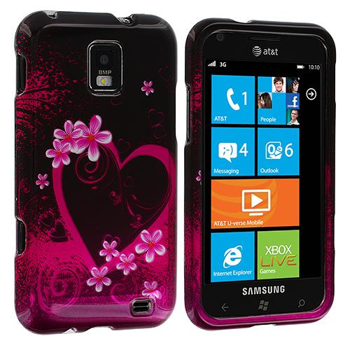 Samsung Focus S i937 Purple Love Design Crystal Hard Case Cover