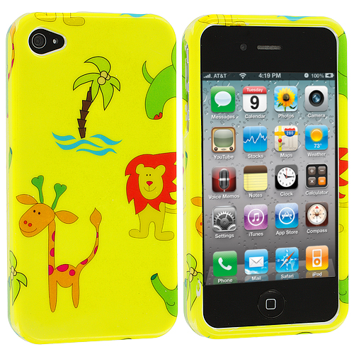 Apple iPhone 4 / 4S Zoo Design Crystal Hard Case Cover