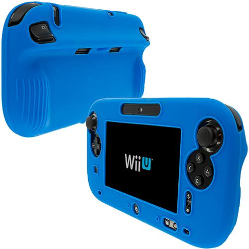 Nintendo Wii U Gamepad Controller Blue Full Silicone Soft Skin Case Cover