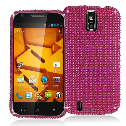 ZTE Force N9100 Hot Pink Bling Rhinestone Case Cover