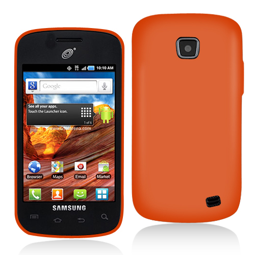 Samsung Proclaim S720C Orange Hard Rubberized Case Cover