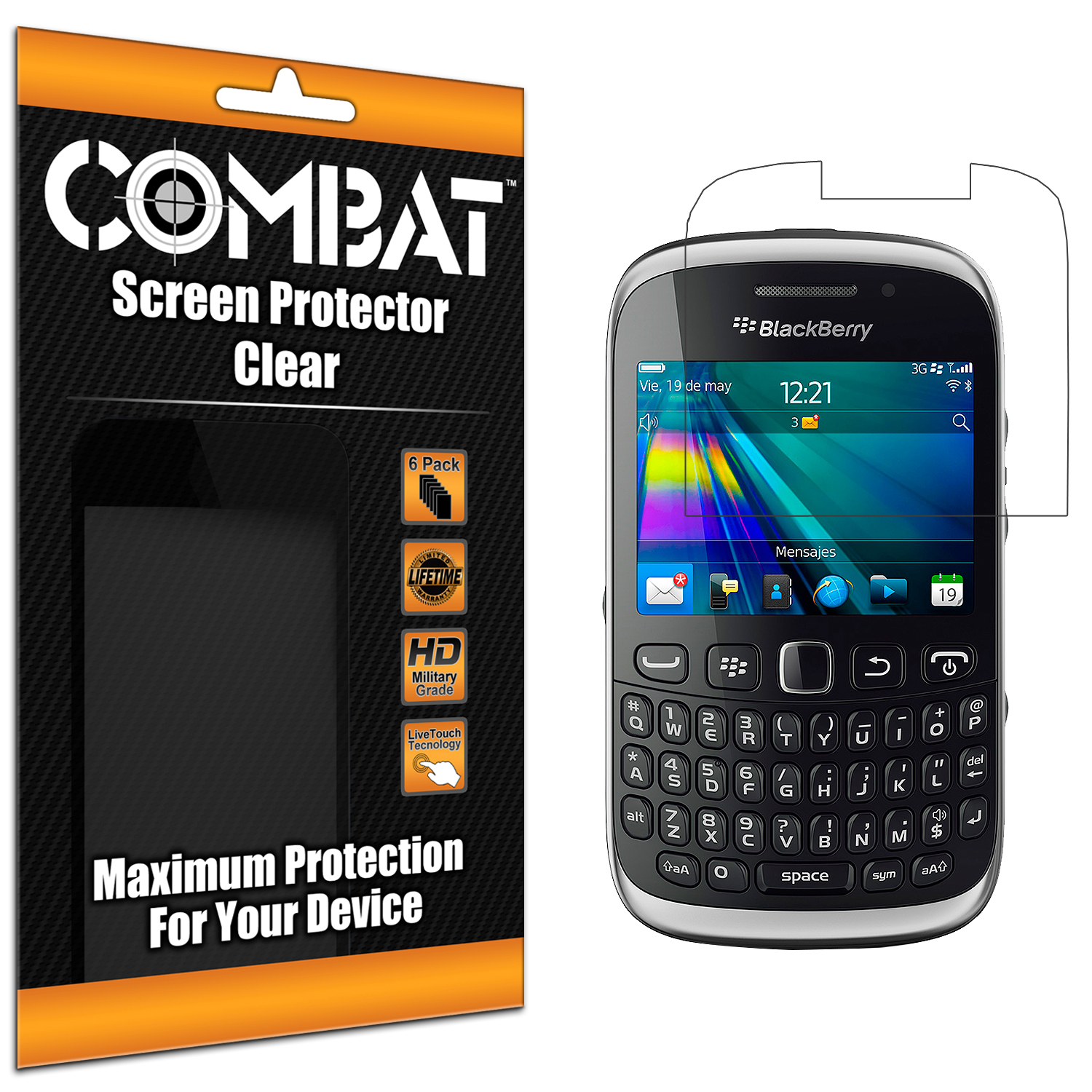 BlackBerry Curve 9315 / 9320 Combat 6 Pack HD Clear Screen Protector
