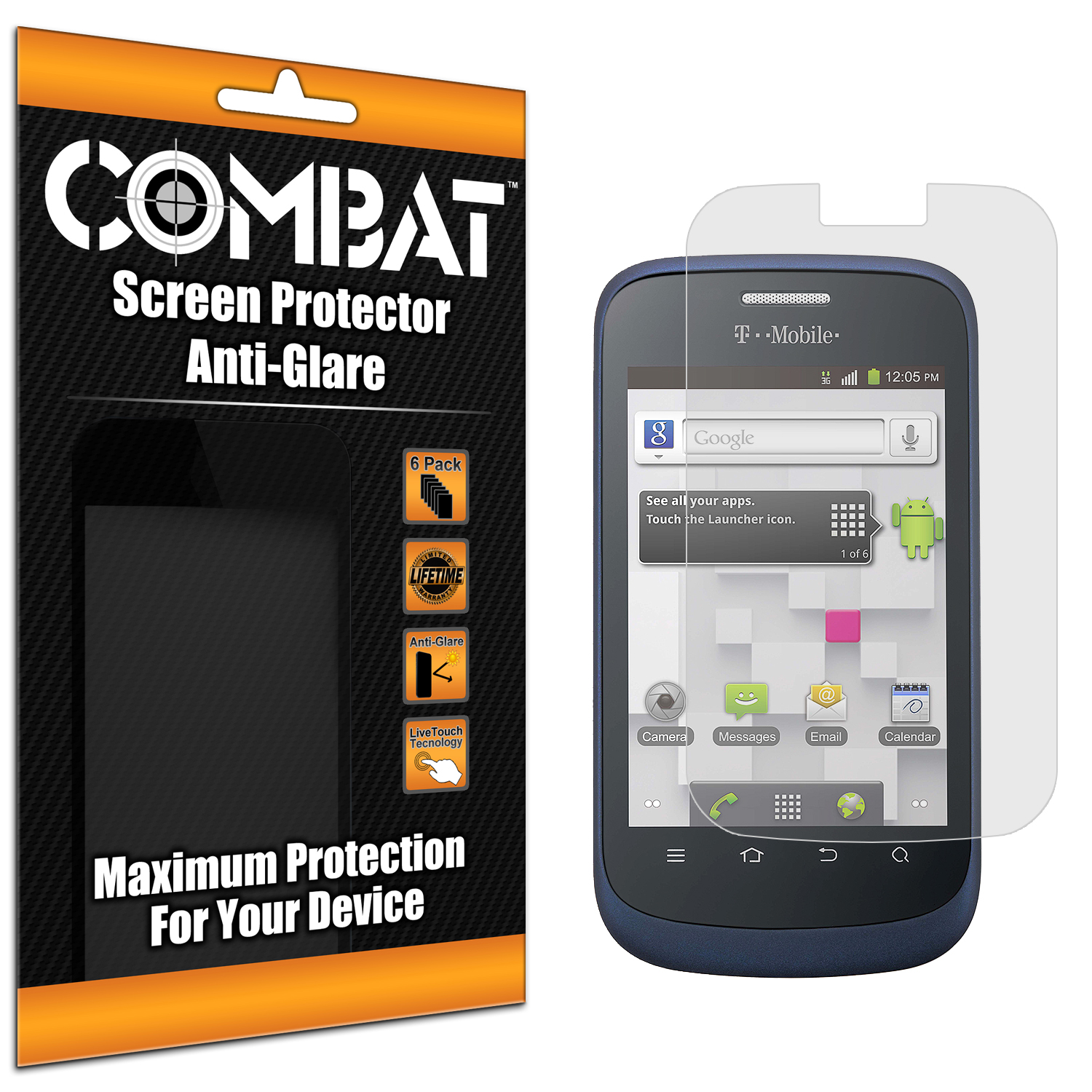 ZTE Concord Combat 6 Pack Anti-Glare Matte Screen Protector